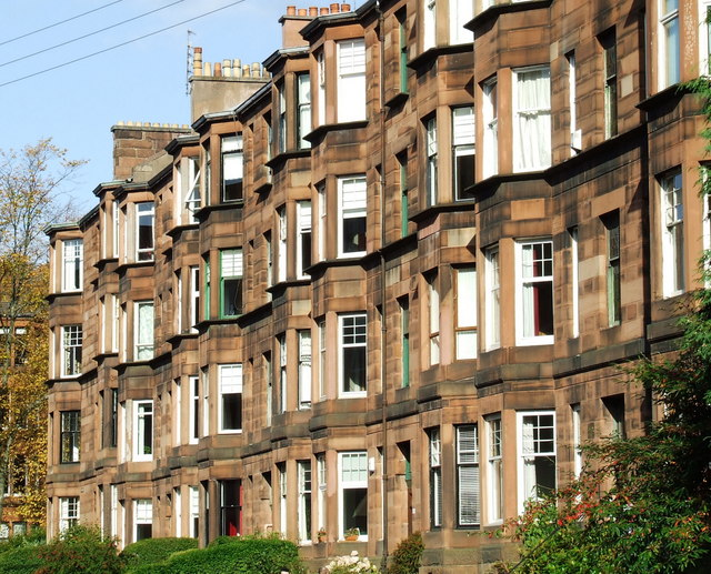 An image of popular Glasgow Tenements. A key strategy for investing in property in Glasgow.